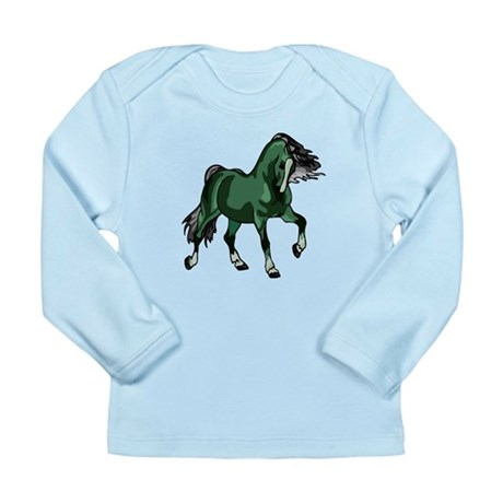 Fantasy Horse Green Long Sleeve Infant T-Shirt