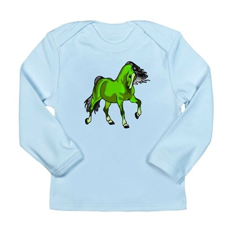 Fantasy Horse Lime Long Sleeve Infant T-Shirt