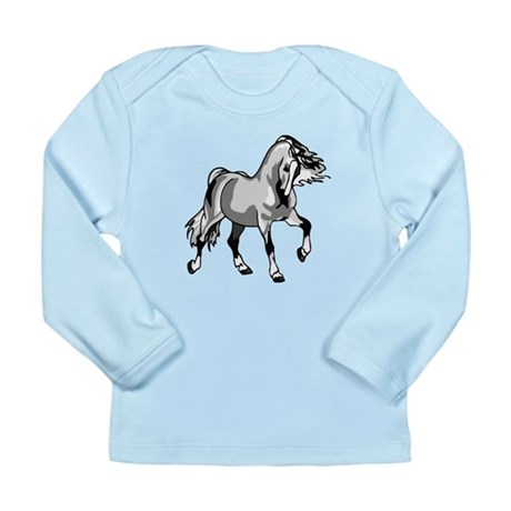 Spirited Horse White Long Sleeve Infant T-Shirt