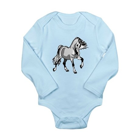 Spirited Horse White Long Sleeve Infant Bodysuit