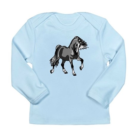 Spirited Horse Gray Long Sleeve Infant T-Shirt