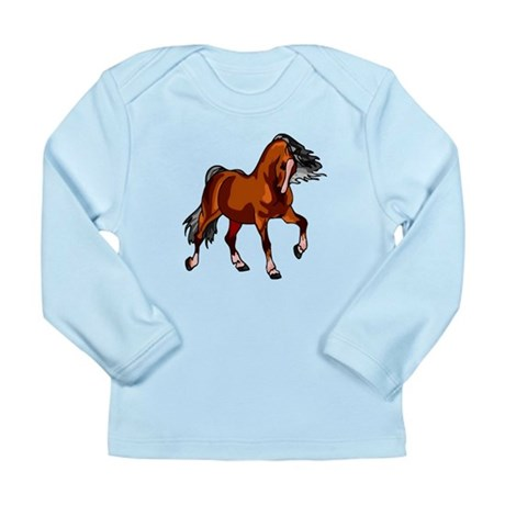 Spirited Horse Red Long Sleeve Infant T-Shirt