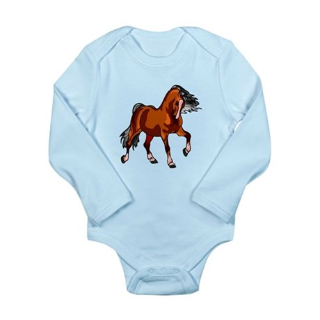 Spirited Horse Red Long Sleeve Infant Bodysuit