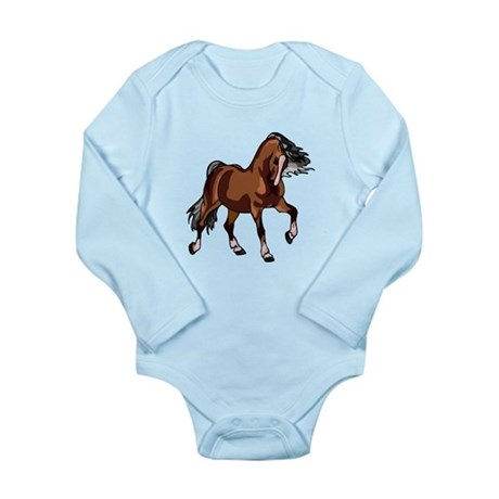 Spirited Horse Long Sleeve Infant Bodysuit