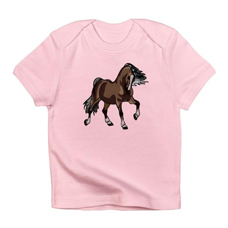 Spirited Horse Dark Brown Infant T-Shirt