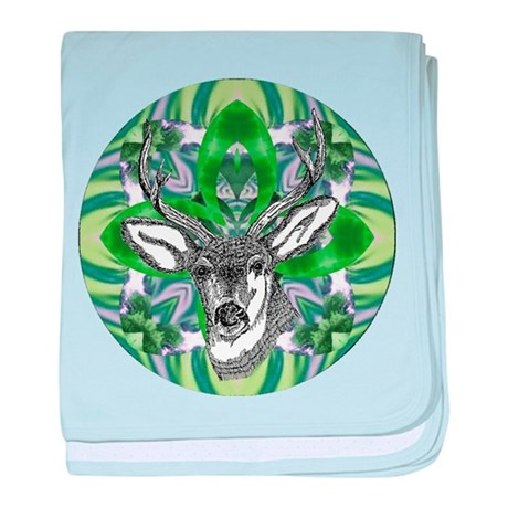 Kaliedoscope Deer baby blanket