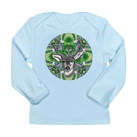 Kaliedoscope Deer Long Sleeve Infant T-Shirt