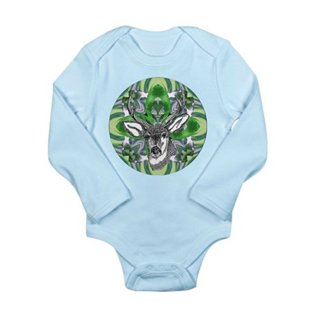 Kaliedoscope Deer Long Sleeve Infant Bodysuit