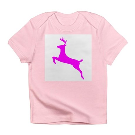 Hot Pink Leaping Deer Infant T-Shirt