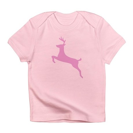 Pink Leaping Deer Infant T-Shirt