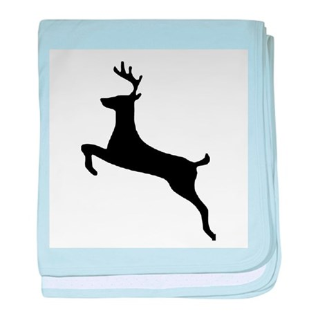 Leaping Deer baby blanket