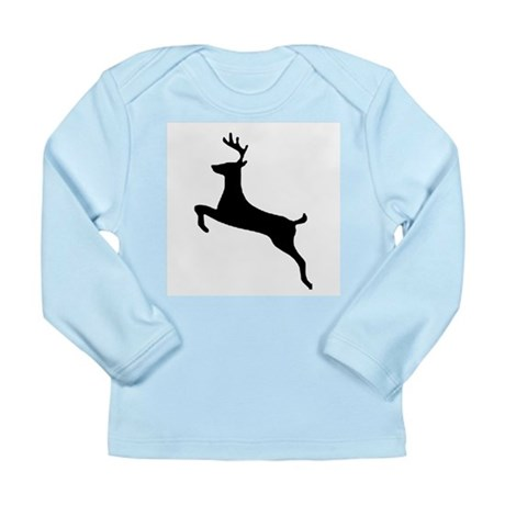 Leaping Deer Long Sleeve Infant T-Shirt