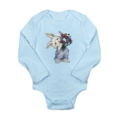 Bunny with Flowers Long Sleeve Infant Bodysuit