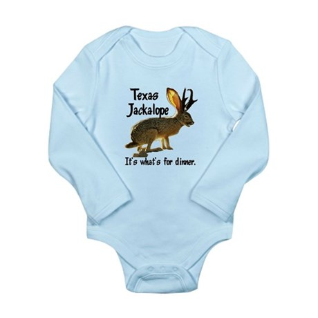 Texas Jackalope Long Sleeve Infant Bodysuit