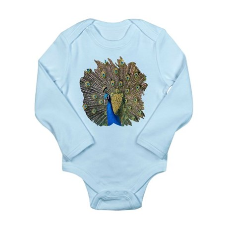Peacock Long Sleeve Infant Bodysuit