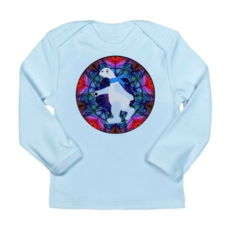 Skating Polar Bear Long Sleeve Infant T-Shirt
