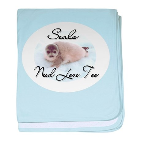 Seals Need Love baby blanket