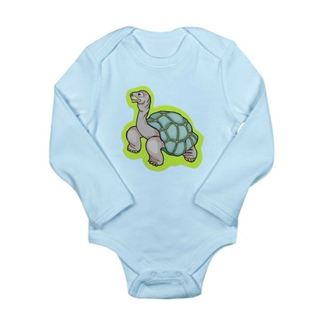 Little Turtle Long Sleeve Infant Bodysuit