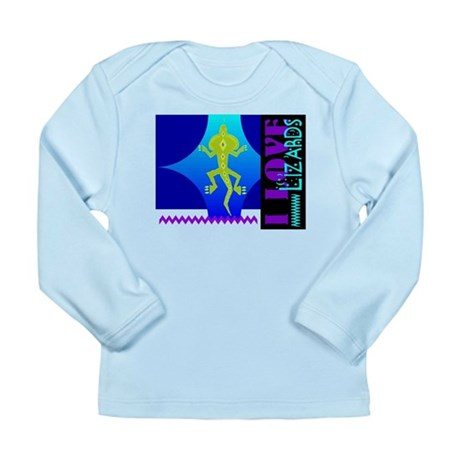 I Love Lizards Long Sleeve Infant T-Shirt