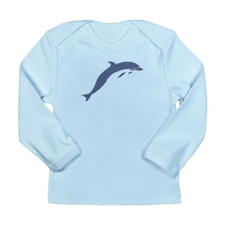 Blue Dolphin Long Sleeve Infant T-Shirt