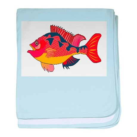 Colorful Fish baby blanket