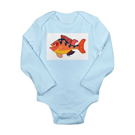 Colorful Fish Long Sleeve Infant Bodysuit