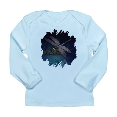 Dragonfly at Night Long Sleeve Infant T-Shirt