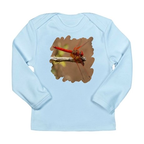 Red Dragonfly Long Sleeve Infant T-Shirt