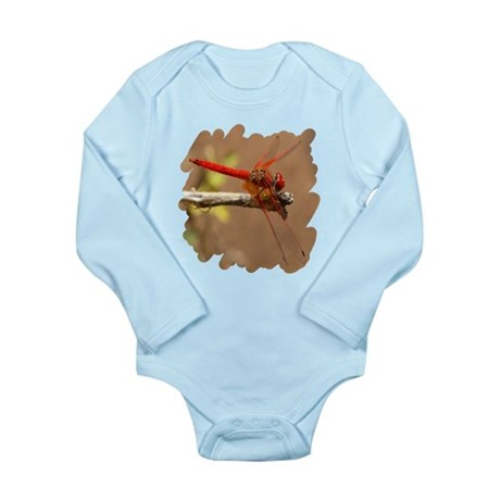 Red Dragonfly Long Sleeve Infant Bodysuit