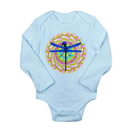 Kaleidoscope Dragonfly Long Sleeve Infant Bodysuit