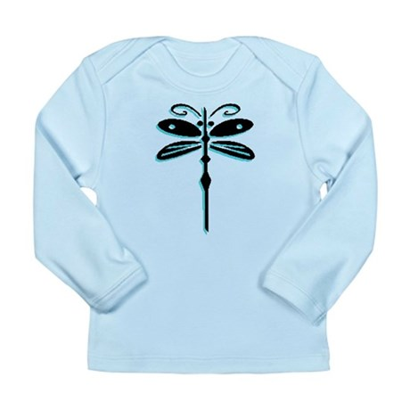Teal Dragonfly Long Sleeve Infant T-Shirt