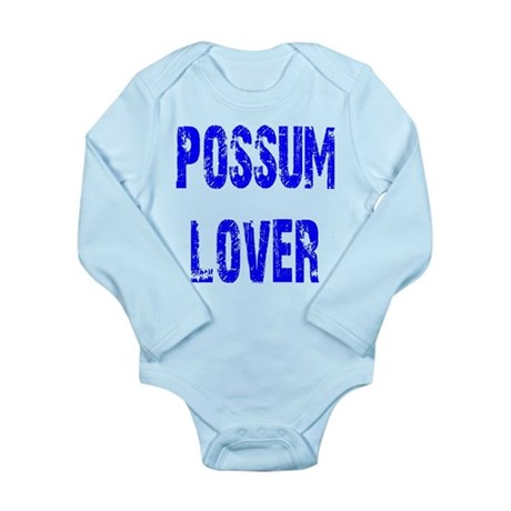 Possum Lover Long Sleeve Infant Bodysuit
