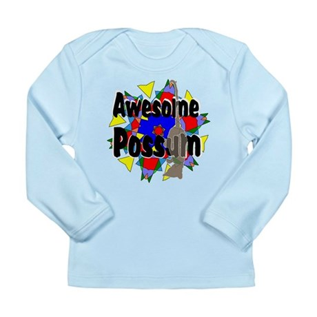 Awesome Possum Kaleidoscope Long Sleeve Infant T-S