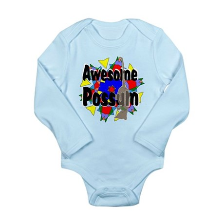 Awesome Possum Kaleidoscope Long Sleeve Infant Bod