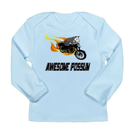Flaming Awesome Possum Long Sleeve Infant T-Shirt