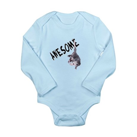 Awesome Possum Long Sleeve Infant Bodysuit