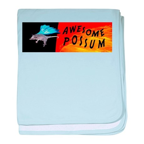 Flying Awesome Possum baby blanket