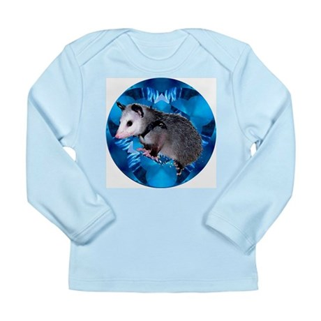Baby Possum Kaleidoscope Long Sleeve Infant T-Shir