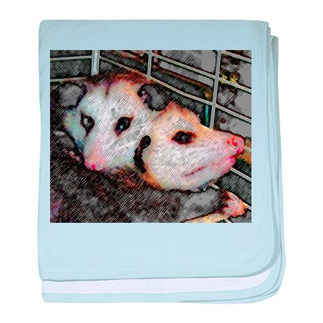 Possum Love baby blanket