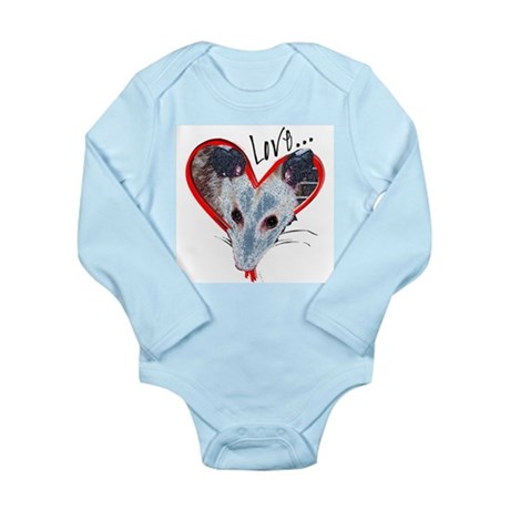 Possum Love Long Sleeve Infant Bodysuit