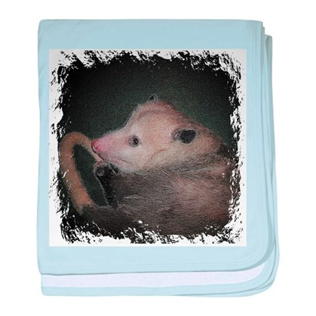 Sleepy Possum baby blanket