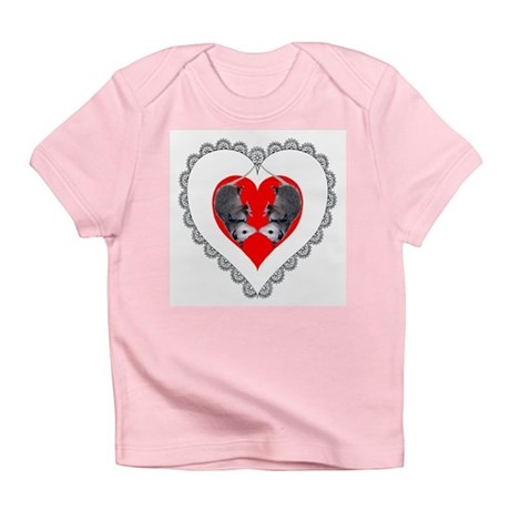 Opossum Valentines Day Heart Infant T-Shirt