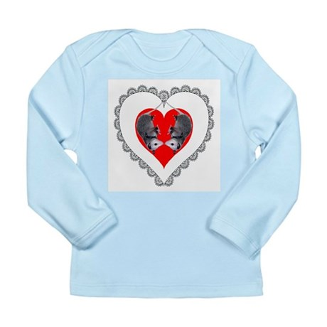 Opossum Valentines Day Heart Long Sleeve Infant T-