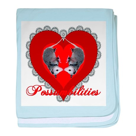 Possumbilities Valentines Day baby blanket