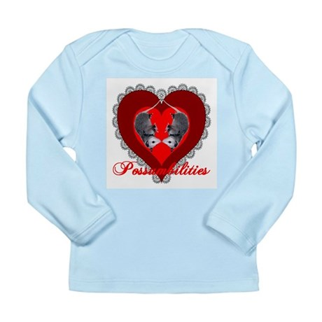 Possumbilities Valentines Day Long Sleeve Infant T