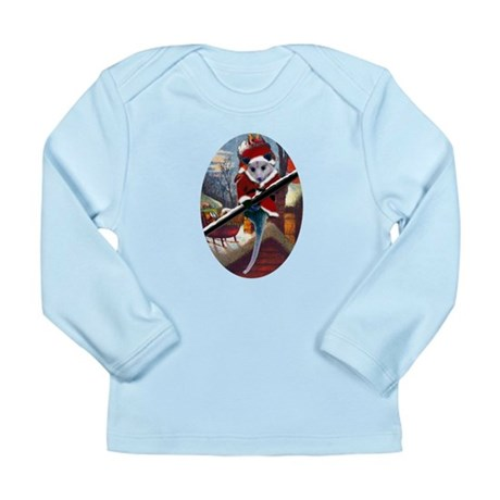 Possum Santa on Rooftop Long Sleeve Infant T-Shirt