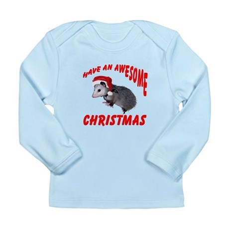 Santa Helper Possum Long Sleeve Infant T-Shirt