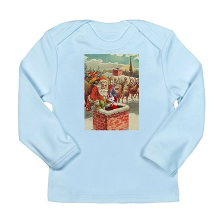 Santa's Helper Possum Long Sleeve Infant T-Shirt