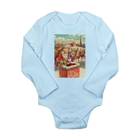 Santa's Helper Possum Long Sleeve Infant Bodysuit