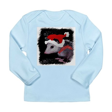 Possum Santa Long Sleeve Infant T-Shirt